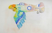 Montage Drawings - Flight by Virginia Stuart