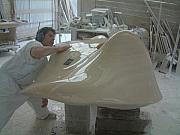 Marble Sculptures - Flight work in progress  by Emanuele Rubini