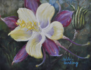 Close Up Floral Pastels Posters - Flights of Fancy Poster by Debbie Harding