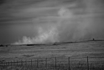 Fences Prints - Flint Hills Burning Print by Fred Lassmann