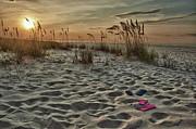Flipflops On The Beach Print by Michael Thomas