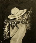 Flirt Three Print by Leslie Allen