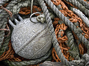 Ropes Photos - Float and Fishing Nets by Carol Leigh