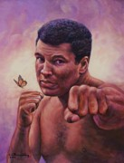 Ali Painting Originals - Float Like A Butterfly by Ed Breeding