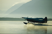 Katmai National Park Prints - Float Plane, Brooks Camp, Katmai Print by Roy Toft