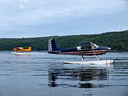 Fly In Framed Prints - Float Planes on Keuka Framed Print by Joshua House