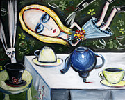 Tea Party Paintings - Floating Above it All by Leanne Wilkes