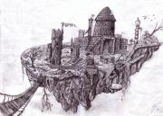 Concept Drawings - Floating City by RJ Roskom