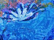 Floating Flower Print by Anne-Elizabeth Whiteway