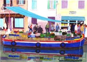 Venice Mixed Media Originals - Floating Grocery Store by Mike Robles