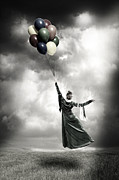 Floating Girl Metal Prints - Floating Metal Print by Joana Kruse