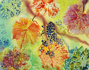 Grape Leaves Prints - Floating Print by Karen Fleschler
