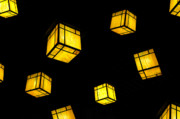 Lanterns Photos - Floating Lanterns by David Lee Thompson