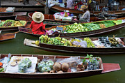 Mango Metal Prints - Floating Market Metal Print by Jirawat Cheepsumol