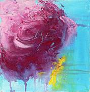 Large Abstract Acrylic Paintings - Floating Rose by Jacquie Gouveia