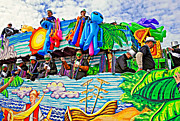 Metairie Framed Prints - Floating Thru Mardi Gras 3 Framed Print by Steve Harrington
