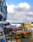 Fishing Village Digital Art - Floating Village Thailand by Kurt Van Wagner