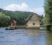 Example Prints - Floating Water Mill, Austria Print by Martin Bond