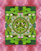 Mandalas Framed Prints - Floating World Framed Print by Bell And Todd