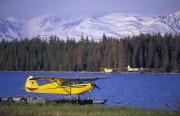 Digitally Altered Prints - Floatplane On Beluga Lake And Kenai Print by Rich Reid