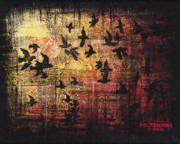 Flock Of Birds Painting Metal Prints - Flock Metal Print by Arleana Holtzmann