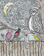 Warbler Mixed Media Metal Prints - Flock Together Metal Print by Barbra Drasby