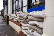Sand Bags Posters - Flood Defences Poster by Mark Williamson