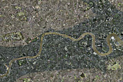 River Flooding Posters - Flood Risk In London, Satellite Image Poster by Getmapping Plc