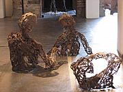 Water Sculpture Originals - Flood Victims back view by Kyle Ethan Fischer