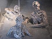 Swim Sculptures - Flood Victims- Front View by Kyle Ethan Fischer