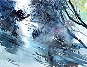 Floods Paintings - Flooding by Anil Nene