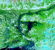 River Flooding Photo Posters - Flooding In Bangladesh Poster by Nasa