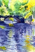 Bridge Painting Originals - Floods by Anil Nene
