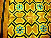 Floor Of Tiles By Michael Fitzpatrick Print by Olden Mexico