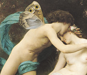 Nudes Paintings - Flora and Zephyr by William Adolphe Bouguereau