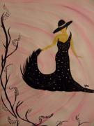 Swing Paintings - Flora by Jen Garmon
