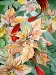 Floral Drawings Originals - Flora Poinsettia by Mindy Newman