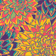 Sketch Art - Floral Abstraction 22 by Sumit Mehndiratta
