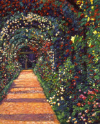 Pathways Painting Framed Prints - Floral Canopy Framed Print by David Lloyd Glover