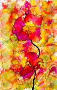 African American Paintings - Floral Duet by Angela L Walker