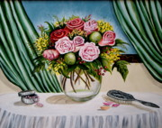 Floral Essence Print by Elizabeth Robinette Tyndall
