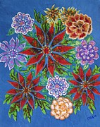 Fabric Mixed Media - Floral Fabrics by Bob Craig
