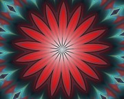 Geometric - Floral Geometric 102311A by David Lane