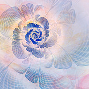 Pastel Digital Art - Floral Impression by John Edwards