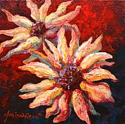 Daisies Paintings - Floral Mini by Marion Rose