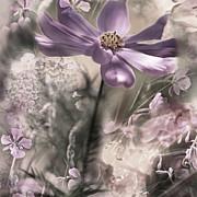 Floral Montage 2 Print by Bonnie Bruno