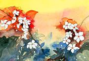 Floral Neklace Print by Anil Nene