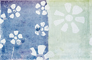 Torn Pastels Prints - Floral Pattern On Old Grunge Paper Print by Setsiri Silapasuwanchai