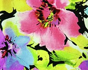Bold Digital Art Originals - Floral Sassy by Florene Welebny