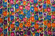 Blanket Posters - Floral Textile Poster by Gloria & Richard Maschmeyer